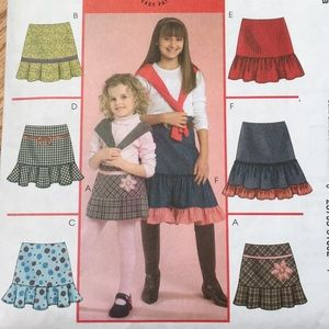 Girl skirt sewing pattern